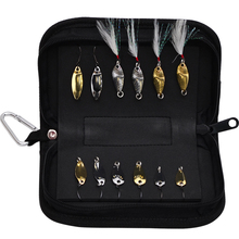 13 Pieces/Lot Trulinoya paillette set bag metal fishing bait trout paillette 12 spoon fishing lure set + 1 fishing bag lure kit