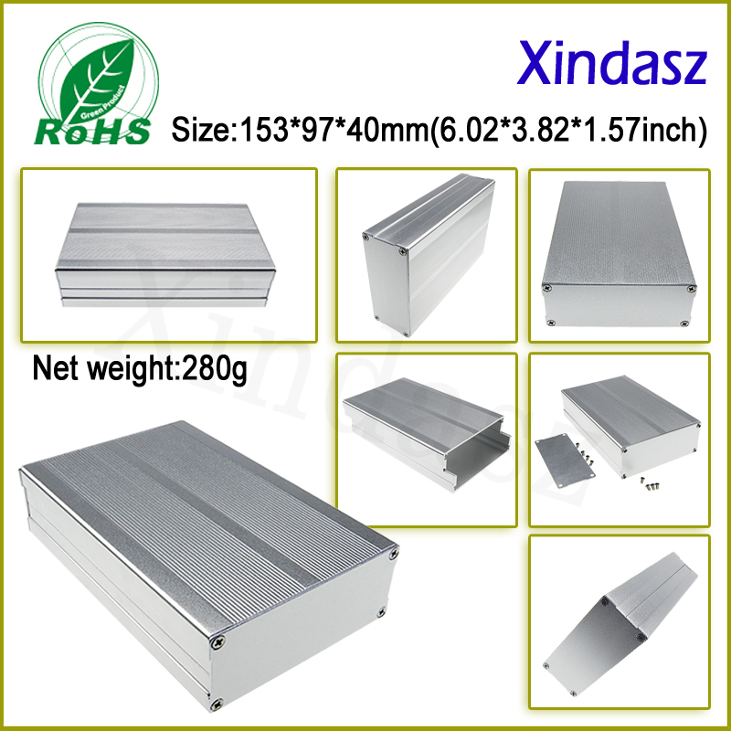 153*97*40mm(L*W*H) Aluminum Project Box Enclousure Case Electronic(China (Mainland))
