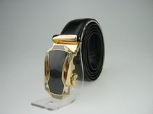 Gold sports car automatic buckle belts for men hot sale genuine leather men belts with streamline design fashion men accessories