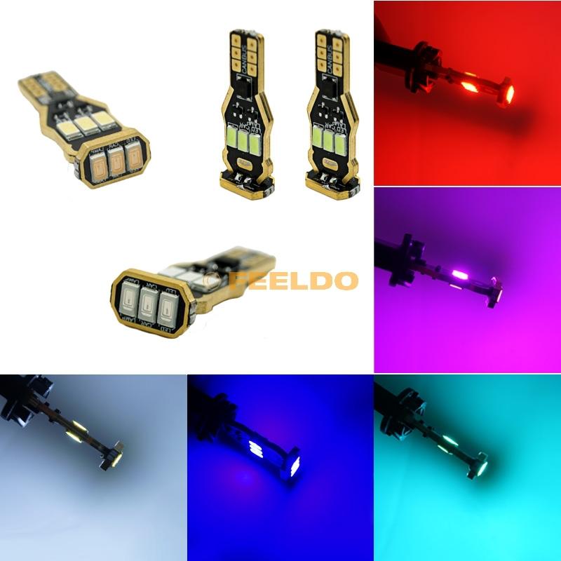 2 шт. 5-Colors 194 / 168 / W5W клин T15 9SMD 5730 CANBUS ошибок безэлектродные дизайн # FD-2233