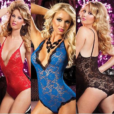 Sexy Women's Lingerie Sleepwear Babydoll Chemise Nightwear Plus Size L-4XL women one piece sexy lace sleepwear