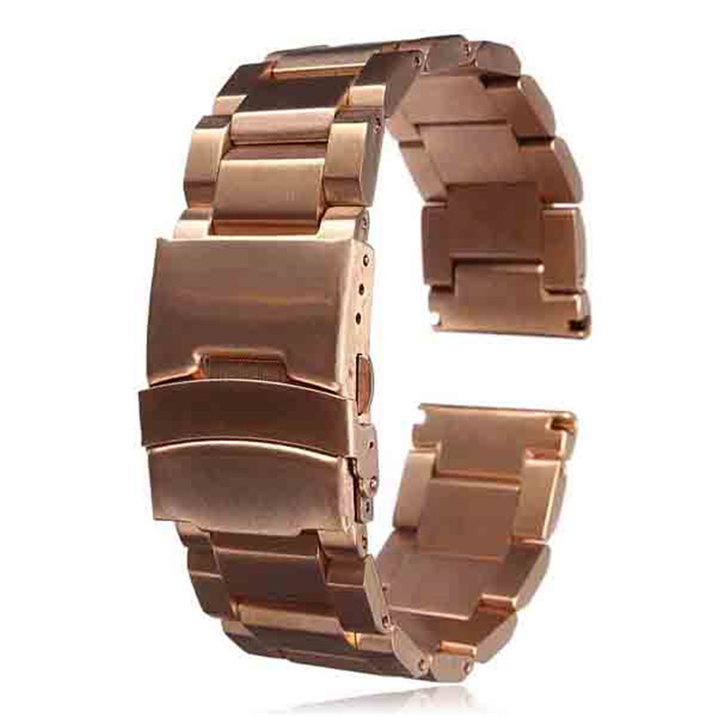 Best Promotion NEW 22mm Stainless Steel Watch for Band Strap Double Lock Flip Bracelet Straight End Lowest Price(China (Mainland))