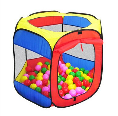 2015 new children tent six sides toy ball pool baby house indoor play tent baby ball pool pool games free shipping(China (Mainland))