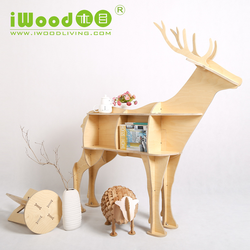 Iwood 12mm birch plywood deer shape home furniture china for Meuble chine import