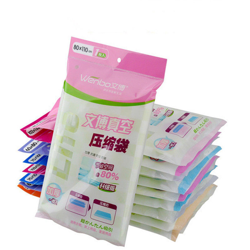 5 Sizes Space Saver Saving Storage Seal Vacuum Bags Compressed Organizer Full Size Free Shipping(China (Mainland))
