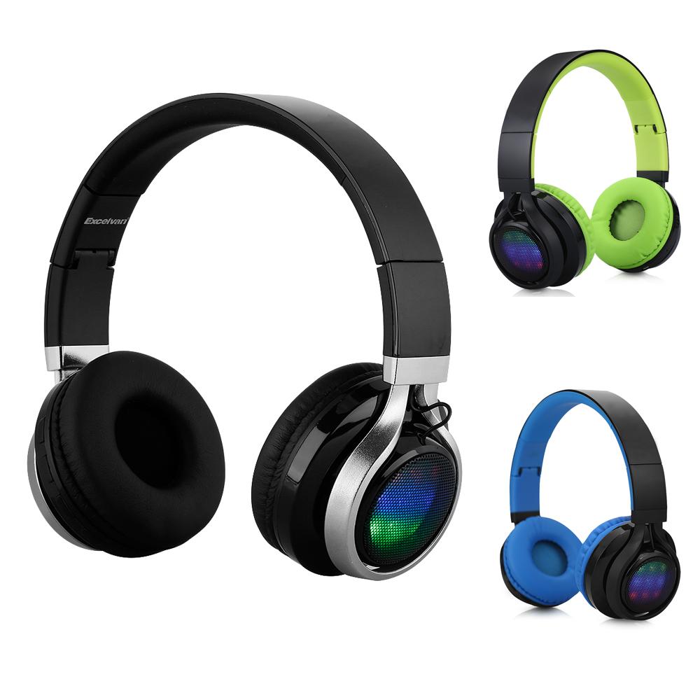original wireless Earphones Bluetooth 3.0 +EDR Classic HD stereo headphones Excelvan BT-9916 Audio USB Charge fone headphone(China (Mainland))