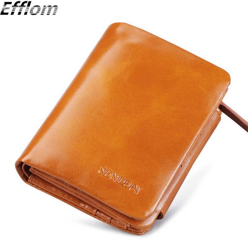 New 2016 Luxury Short Design Woman Wallet Leather Genuine Cowhide Ladies Coin Purse High Quality Designer Phone Women Wallets(China (Mainland))