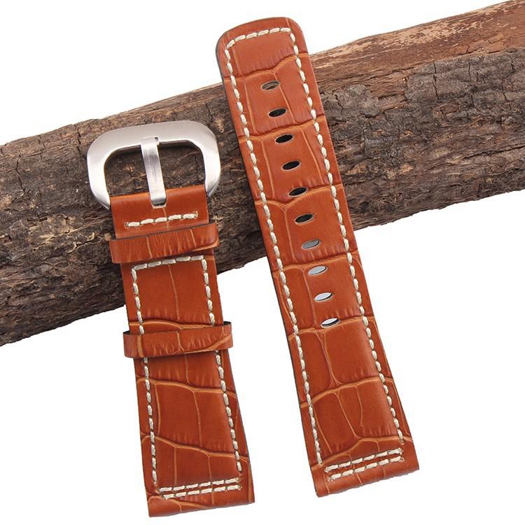 28 мм ремень Из Натуральной кожи высокого качества Ремешок Для Часов Коричневый с белыми сшитые для SevenFriday Мужские Часы аксессуары
