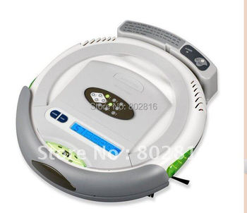 Free Shipping For Russian/3 In 1 Multifunctional Cleanmate QQ-2L ,Robot Floor Cleaner (Auto Vacuum,Sterilize,Air Flavor),LCD
