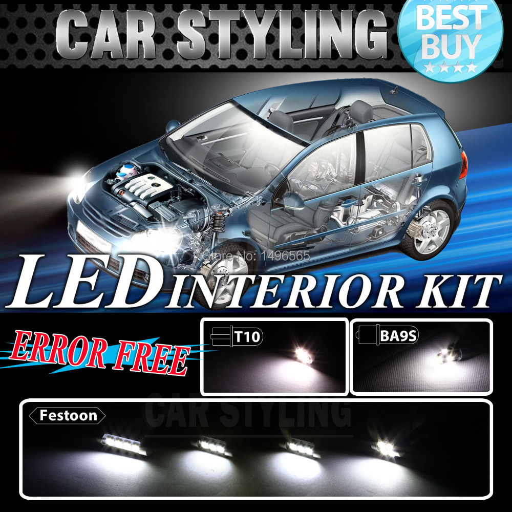 12PCS CANBUS ERROR FREE White car Interior Package LED bulb Kit for Jetta Golf 11-12 Car Styling Accessories Interior LED&232(China (Mainland))