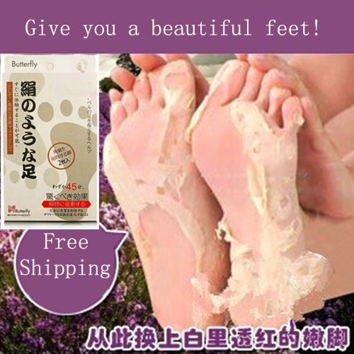 1Pairs=2pcs Baby Foot Peeling Renewal Foot Mask Remove Dead Skin Socks For Pedicure Smooth Exfoliating Feet Mask Foot Care(China (Mainland))