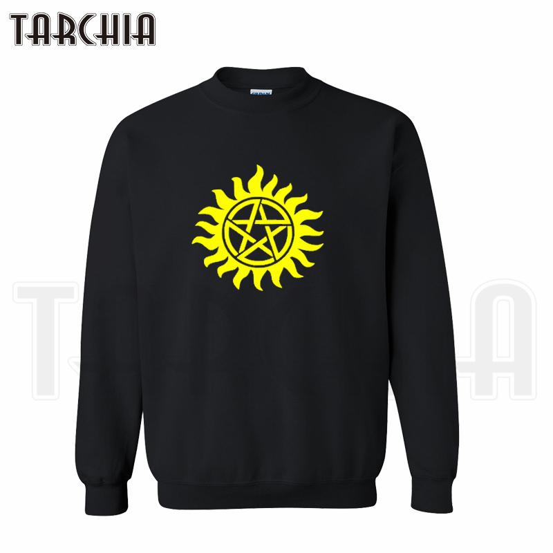 TARCHIA 2016 font b hoodies b font tv supernatural tattoo pullover font b sweatshirt b font