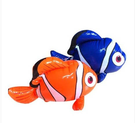 free shipping 10pcs/lot 2014 new design lovely inflatable clown fish children toys,inflatable marine animal wholesale(China (Mainland))