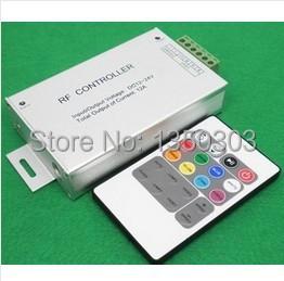 NEW DC12V/144W, DC24V/288W Adjustable Brightness & Speed, 20 Key RF Touch Remote, LED RGB Controller(China (Mainland))