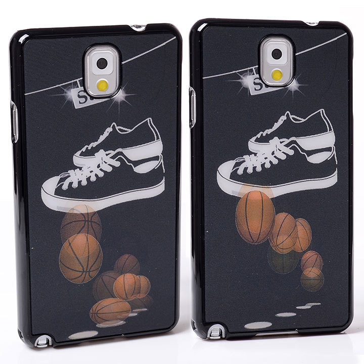 DYNAMIC Movie Video Film Effect jump basketballs gym shoes flash PC Hard Back Shell Cover Case For Samsung GALAXY Note 3 N9000(China (Mainland))