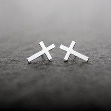 1pc Gold Silver Pink Gold Cross stud Earrings Stud Earrings E030