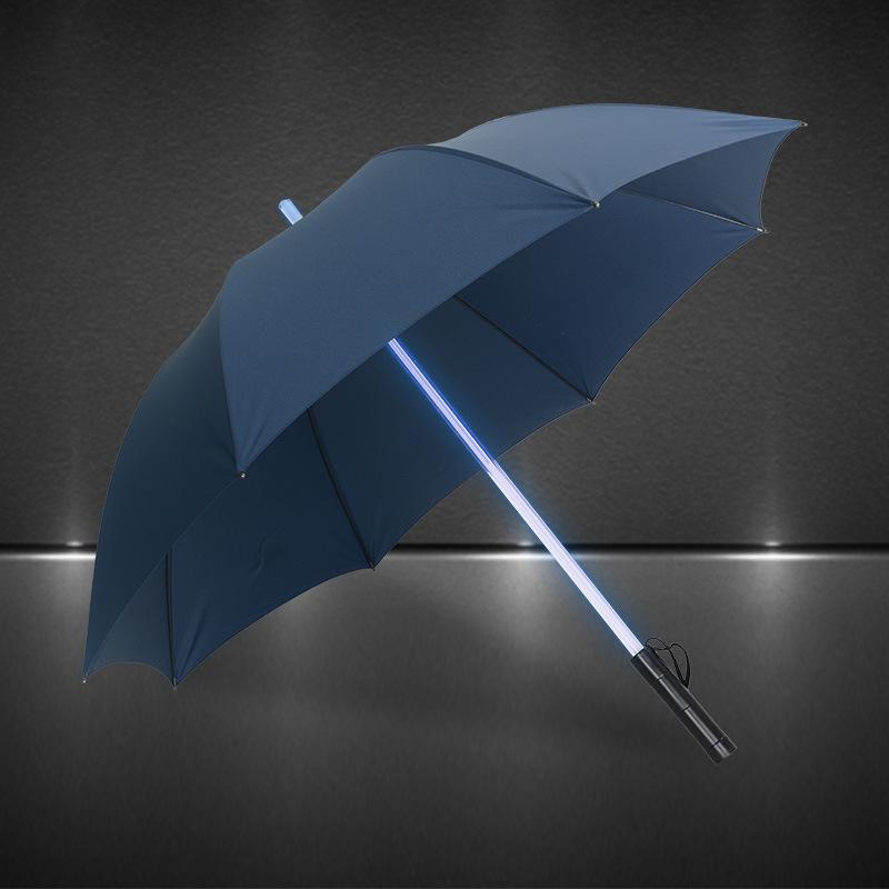 Retail Cool Blade Runner Light Saber LED Flashlight Umbrella LEDluminous umbrella straight handle sunny/rainy windproof umbrella(China (Mainland))