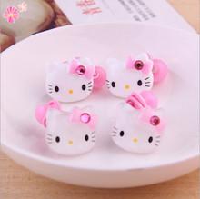 Hair Rope Fashion Hair Accessories Red Kids Cat Headwear Cartoon Hello Kitty Elastic Hair Bands(China (Mainland))