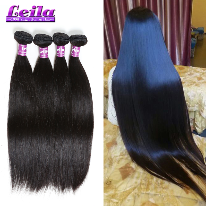 Silk Brazilian Straight Hair 4 Bundles 7A Grade Bele Virgin Hair Products Company Brazilian Hair Straight Human Hair Extensions(China (Mainland))