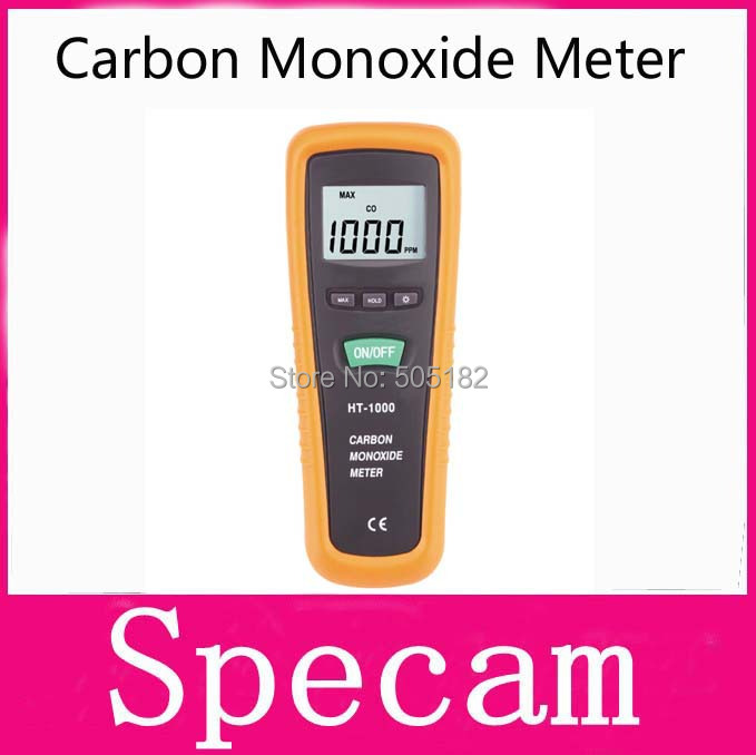 HT-1000 CO Monitor Hand-held portable carbon monoxide meter tester CO gas detector Measuring range 0-1000PPM free shipping