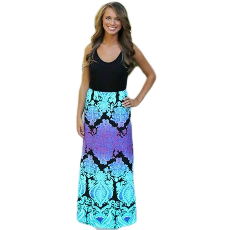 Cool 2016 New Bohemian Style Summer Fashion Women39s Beach Dress Sleeveless