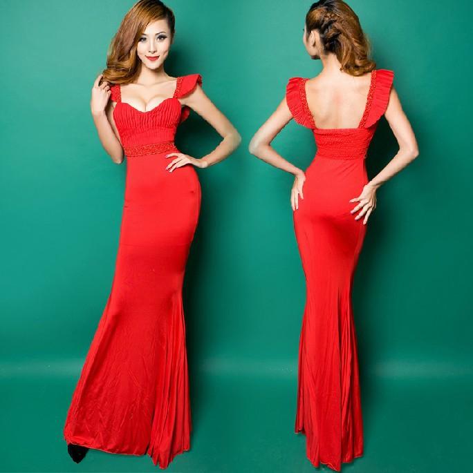 Free shipping Fashion stretchy jersey Tank Sweatheart beaded vestido de festa robe de soiree Evening dresses A0221(China (Mainland))