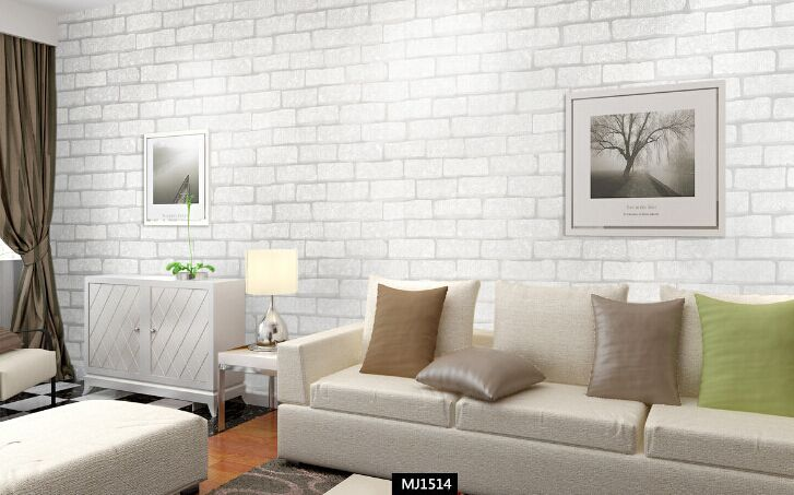 Vinyl Modern Vintage 3D effect Imitation Stone Brick Wall Wallpaper Retro Background Roll Brick Wall paper For Restaurant,loft(China (Mainland))