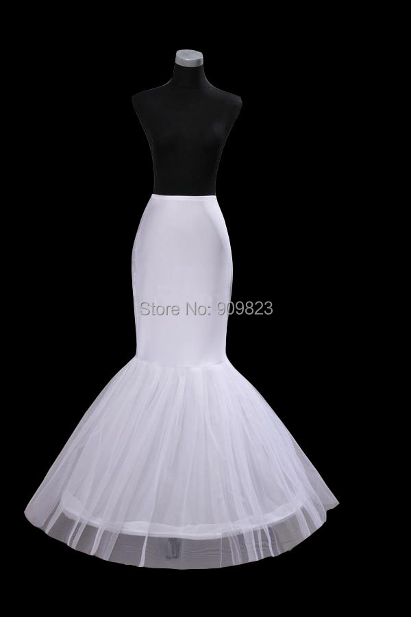 Buy hot sale one hoop mermaid crinoline for Mermaid slip for wedding dress