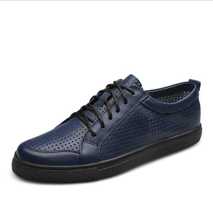 NEW british style mens genuine leather shoes men fashion business casual lace-up a life breathable dress shoe lhb006(China (Mainland))