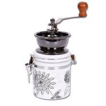 Мода ручной удобно специи кофейных зерен кофемолка нержавеющая сталь заусенцев мясорубку с керамический сердечник кофеварка YMJ08 кухонный инвентарь