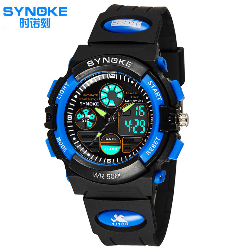 2016 Newest Brand Synoke Children LED Digital-watch Men Women Watches Shock Fashion Sports Waterproof Kids Wristwatches