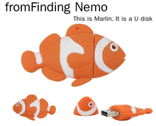 retail cartoon finding nemo funny clown fish usb flash drive pen drive memory stick u disk 4gb 8gb 16gb 32gb pendrive(China (Mainland))