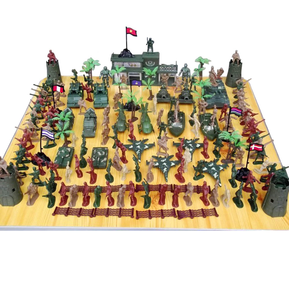146 Pcs/1 Set Plastic Military Playset Soldier Toy Kit Sand Army Men Figure Toy(China (Mainland))