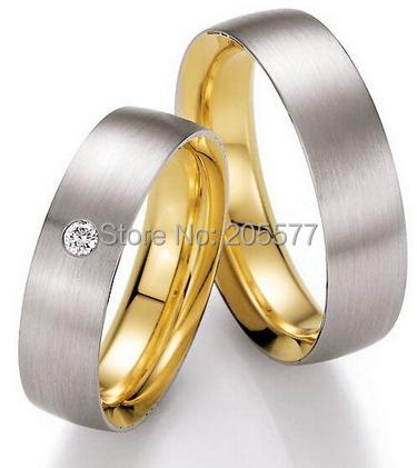 Luxury Custom Comfort Fit 18k Gold Plating Health Platinum Color Wedding Ring Sets For Him And