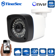 TinoSec IP Camera 720P Outdoor Full HD Waterproof Bullet 3.6mm Lens IR Cut P2P ONVIF ABS Plastic Housing CCTV Camera System(China (Mainland))