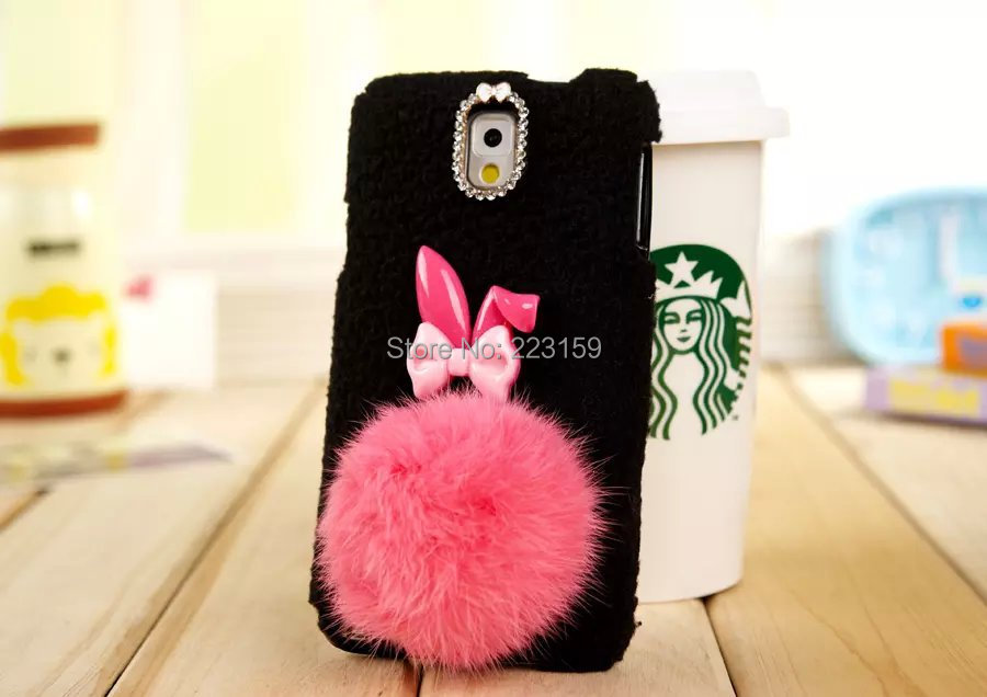 Bunny Tail Hair Rabbit Bunny Ball Tail Case