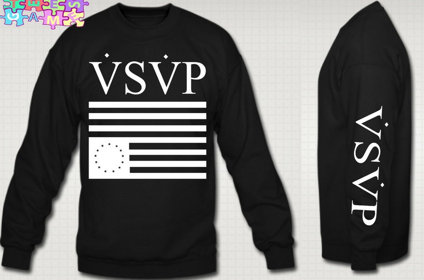 VSVP CREWNECK ASAP ROCKY COMME DES FUCKDOWN SWEATER ASAP SWEATSHIRT COMME DES(China (Mainland))