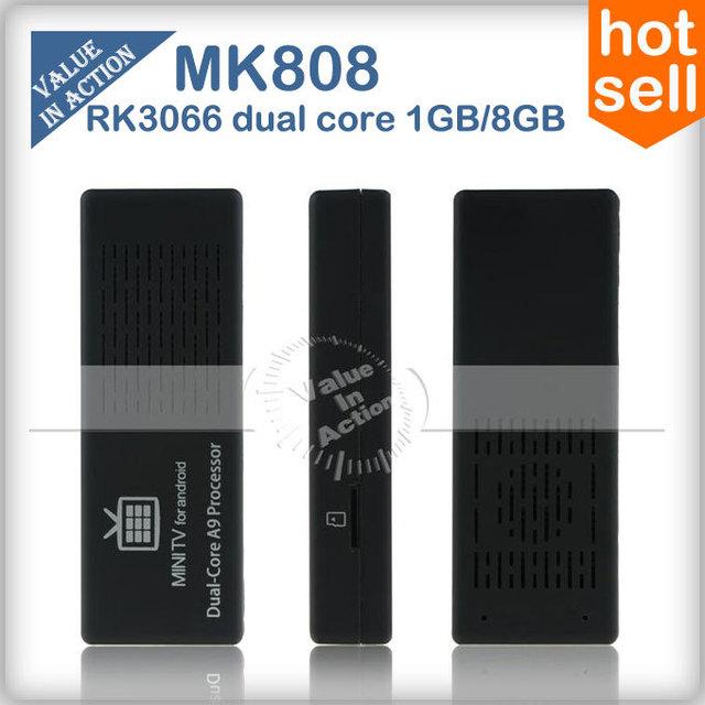 Original MK808 dual core Stick Tv box  Android 4.1 Mini PC RK3066 1GB RAM 8GB Memory HDMI 1080P XMBC WiFi Official Firmware
