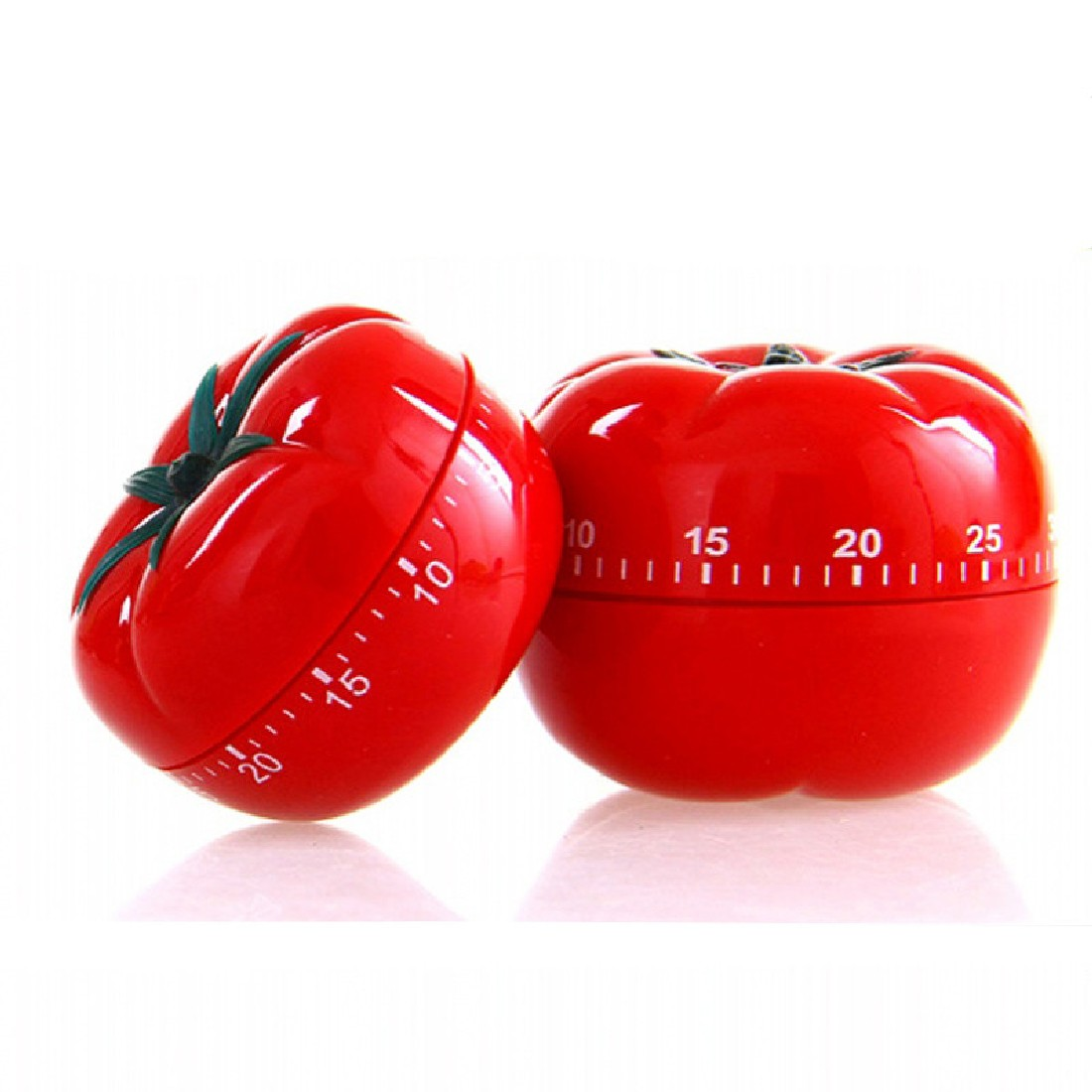 New Practical Mechanical Timer 1-60min 360 Degree Fashion Cute Indoor Kitchen Tomato Mechanical Countdown Timer(China (Mainland))