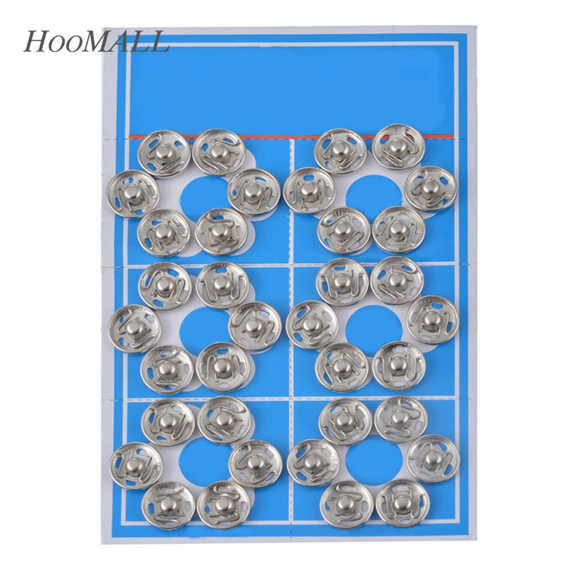 Hoomall 1Set Metal Snap Buttons Fasteners Press Button Stainless Steel Stud Silver Sewing Accessories Buttons Scrapbooking(China (Mainland))