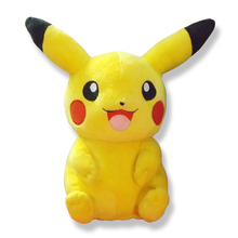 22cm Pikachu Plush Toys Children Gift Cute Soft Toy Cartoon Pocket Monster Anime Kawaii Baby Kids Toy Pikachu Stuffed Plush Doll(China (Mainland))
