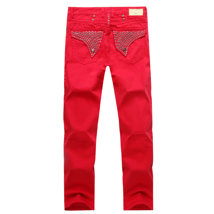 2015 New Red Robin Jeans Men Pants Designer Famous Brand Robins Wings American Flag Plus Size 40 42 - Yuchen Store store