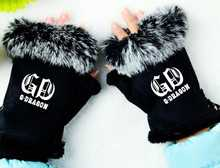 Buy Kpop bigbang gd g-dragon printing K POP fashion mittens winter unisex cony hair gloves warm cute guantes mujer size adjustable for $7.73 in AliExpress store