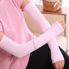 1 Pair Cooling Women Lady Arm Sleeves Cover UV Sun Protection Golf Basketball Sports Stretch(China (Mainland))