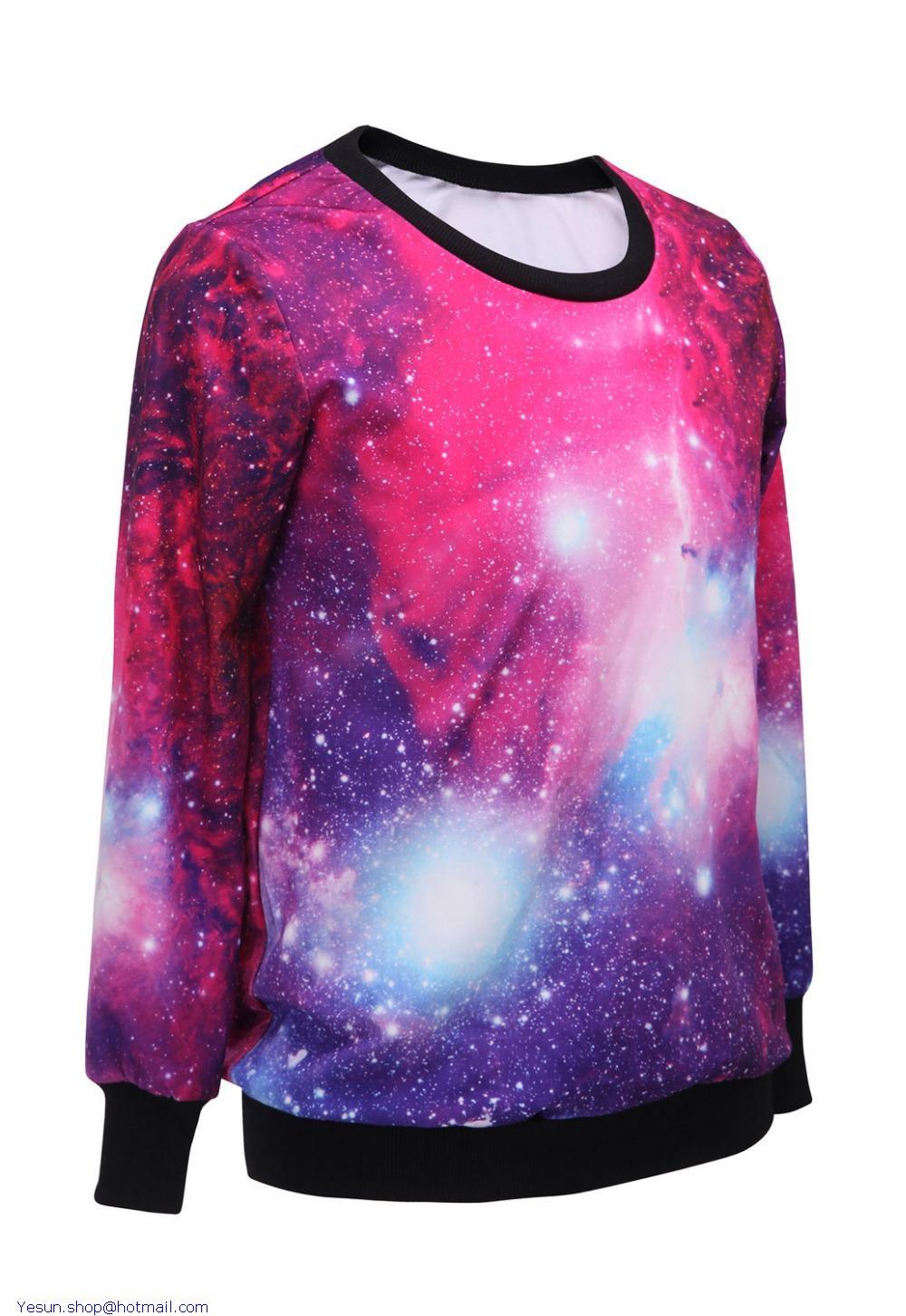 Camisetas femininas moletons feminino harajuku women t for Galaxy white t shirts wholesale