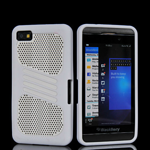 New arrival Mesh Hard rubber coating Soft TPU Gel surround cover case for Blackberry Z10 - Free shipping