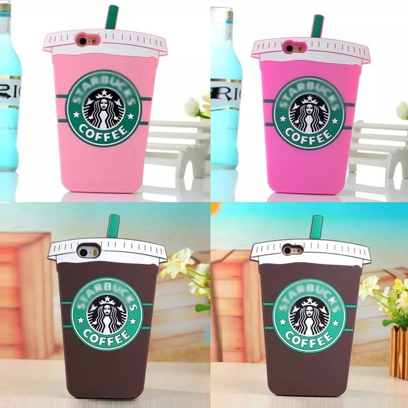 2015 3D Coffee Cup Starbuckss Luxury Brand case Soft Silicone Back For iPhone4 4s 5 5S 5c 6 6 plus starbuck Free Shipping(China (Mainland))