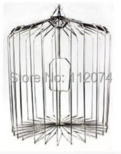 Silver Steel Appearing Bird Cage - Small size (dove appearing cage), magic tricks,illusions,card tricks novelties(China (Mainland))