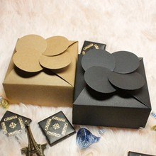 7.8*7.8*3.5cm. Free shipping.Gift paper boxes, Clovers stereo model Kraft Paper Boxes,Wholesale,200pcs/lot(China (Mainland))