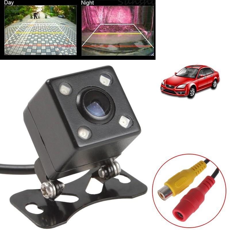 Parktronic Car Rear View Camera Waterproof HD CCD 4 LED Night Vision Rear View Camera Universal Parking Assistance Parktronic(China (Mainland))